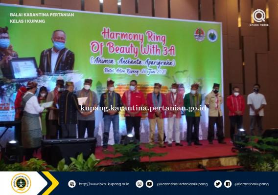 Karantina Pertanian Kupang Raih Penghargaan dari Kementerian Lingkungan Hidup dan Kehutanan